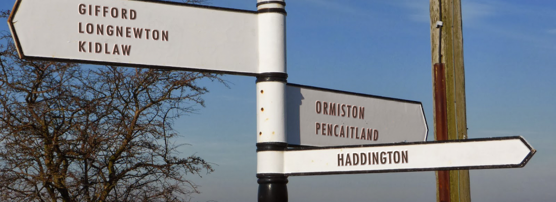 East Lothian Roadsign